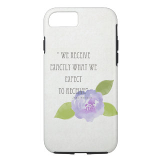 RECEIVE WHAT WE EXPECT TO RECEIVE PURPLE FLORAL iPhone 7 CASE