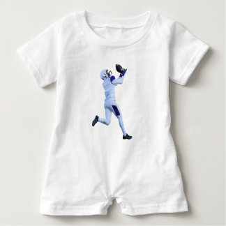 Receiver Catching the Long Bomb Baby Romper