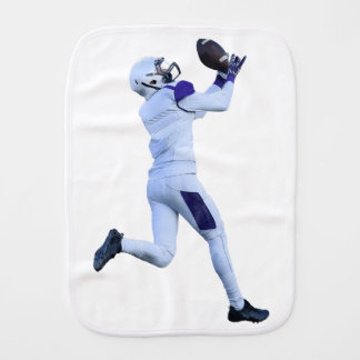 Receiver Catching the Long Bomb Burp Cloth