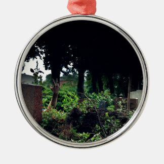Recently on the cemetery Silver-Colored round ornament