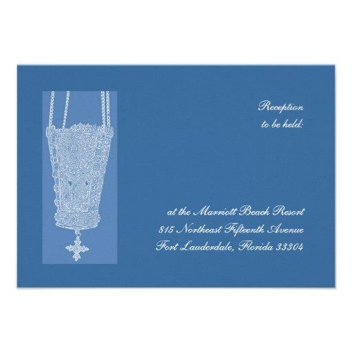 Réception bleue de Kandili Carton D'invitation