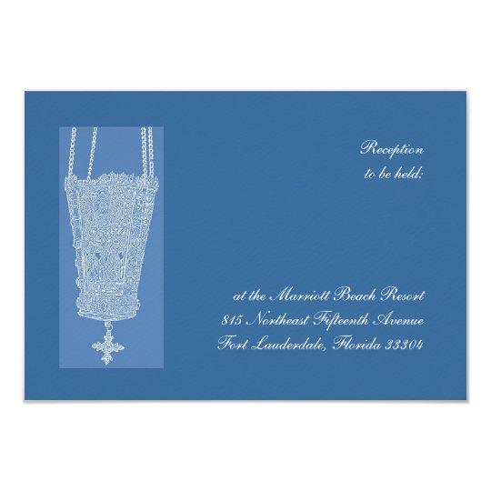 Réception bleue de Kandili Carton D'invitation 8,89 Cm X 12,70 Cm