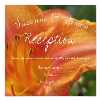 Réception de lis tigré carton d'invitation  13,33 cm