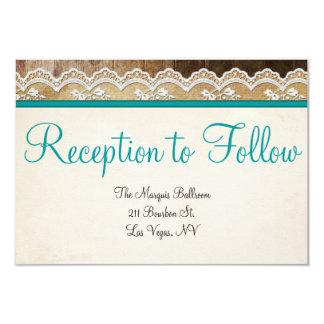 Réception de mariage personnalisable de couleurs carton d'invitation 8,89 cm x 12,70 cm