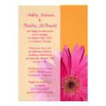Réception de mariage rose orange de marguerite de  cartons d'invitation