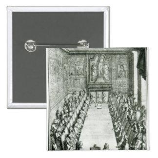 Réception d'un membre de l'académie française macaron carré 5 cm