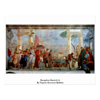 Reception Henrich Iii By Tiepolo Giovanni Battista Postcard