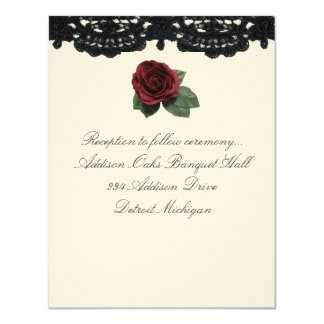 Reception invitation Design Roses and Cake