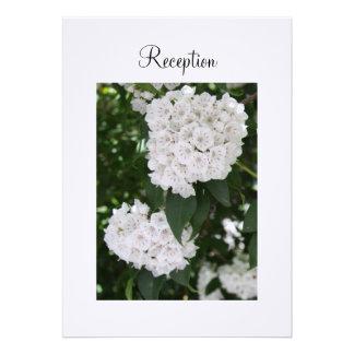 Reception Invitation White Wedding Mountain Laurel Cards
