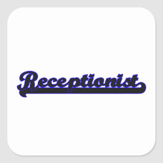 Receptionist Classic Job Design Square Sticker