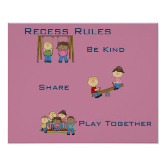 Recess Rules Posters