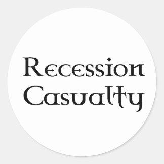 Recession Casualty Round Sticker