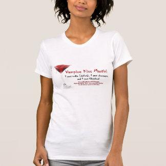 Recette de boissons de Martini de baiser de vampir T-shirt