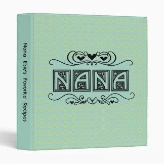 Recette de Nana ou classeur personnalisée de photo