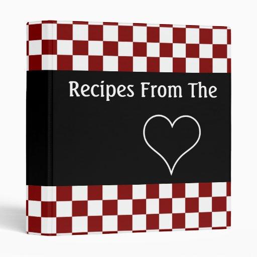 Recettes du livre de cuisine de damier de coeur
