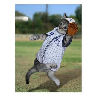Receveur de chat dans les extra-champs ! carte postale