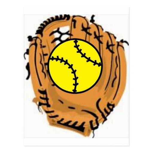 Receveur du base-ball carte postale