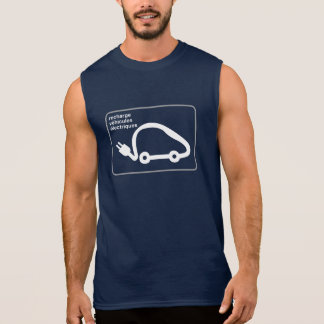 Recharge Stn Electric Cars, Traffic Sign, France Sleeveless Shirt