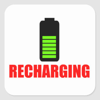 Recharging Battery Sticker