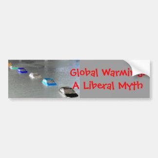 Réchauffement climatique : Un mythe libéral Autocollant De Voiture
