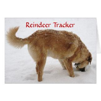 Recherche mignonne de Père Noël et de renne et chi Cartes