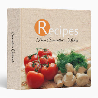 Recipe Binder Cookbook Modern Fresh Vegetables