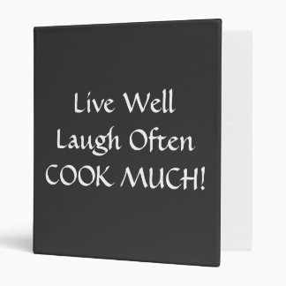 Recipe Binder Holder LIVE LAUGH LOVE COOK