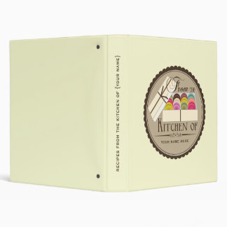 Recipe Binder - One Dozen French Macarons