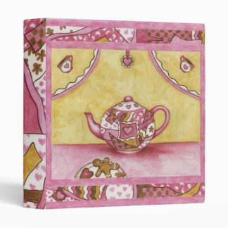 Recipe Binder Scrapbook Gingerbread Dessert Teapot