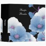 Recipe Blue Lilac Flowers Black DECOR SETS Binder