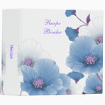 Recipe Blue Lilac Poppies White DECOR SETS 3 Ring Binders