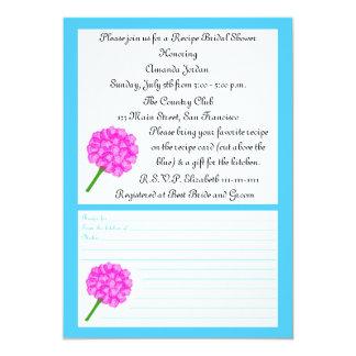 Recipe Bridal Shower Invitation - Blue Recipe Card