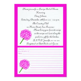 Recipe Bridal Shower Invitation - Pink Recipe Card