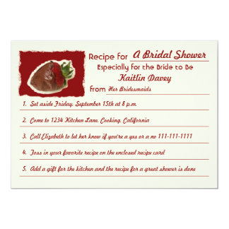 Recipe Bridal Shower Invitations