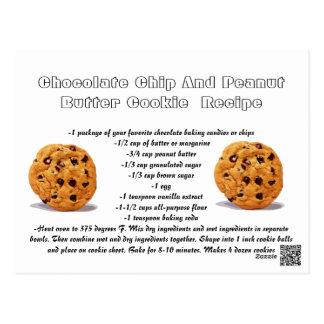 Recipe card Chocolate Chip Peanut Butter Cookie
