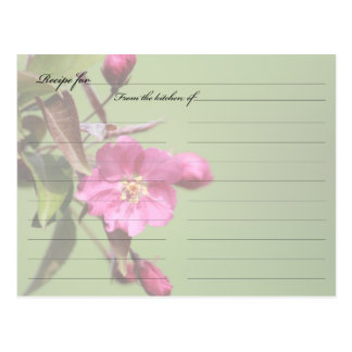 Recipe Card Crab Apple Blossom
