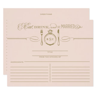 Recipe Card | Eat, Drink & Be Married Theme