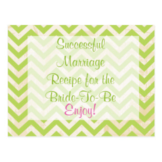 Recipe Card for a Successful Marriage Postcard