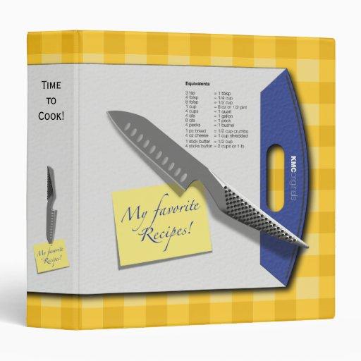 Recipe Cutting Board Knife Avery Binder
