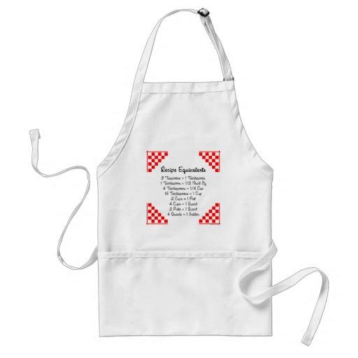 Recipe Equivalents Kitchen Helper Apron