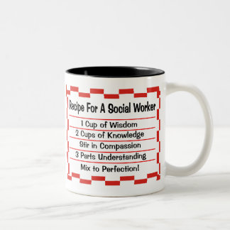 Recipe for a Social Worker Coffee Mugs