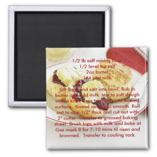 Recipe magnets - Basic scones