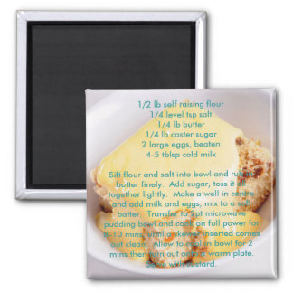 Recipe magnets - microwave sponge pudding