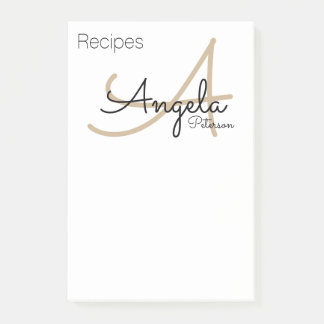 recipe notes of the chef monogram