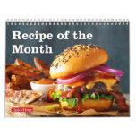 Recipe of the Month Calendar