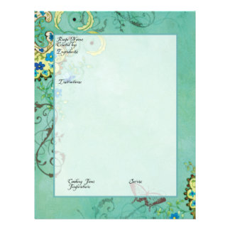 Recipe Page Family Heritage Cookbook Recipe Binder Custom Flyer