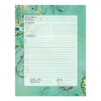Recipe Page Family Heritage Cookbook Recipe Binder Flyers