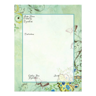 Recipe Page Family Heritage Cookbook Recipe Binder Flyer