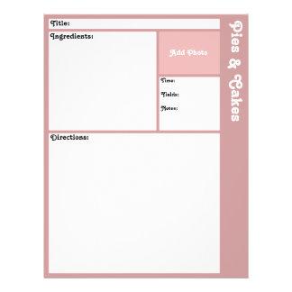 Recipe Pages (Mauve) Flyer