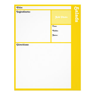 Recipe Pages (Yellow) Flyers